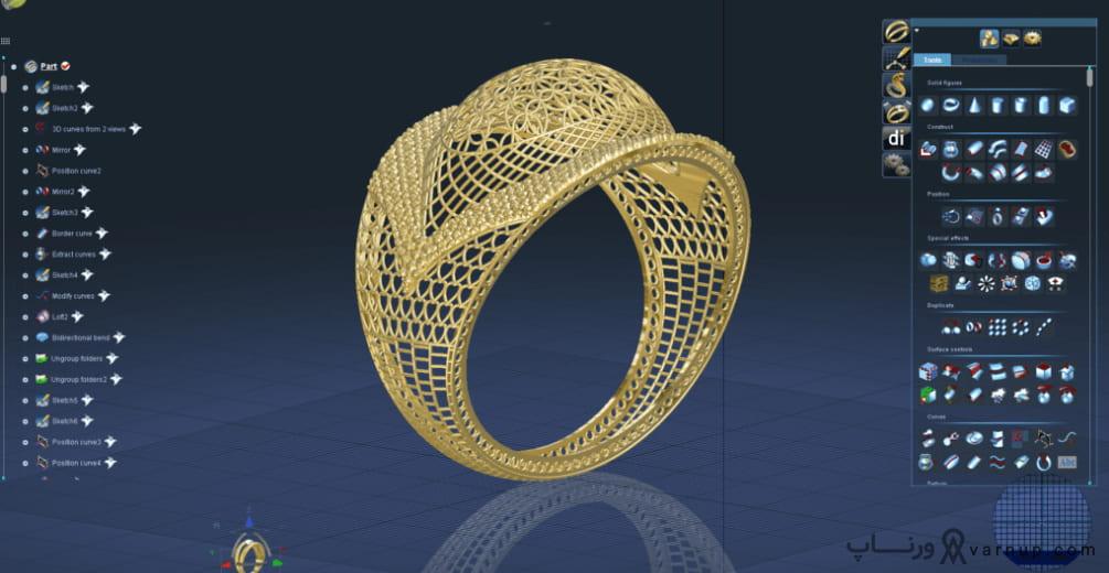 پرینتر سه بعدی جواهرسازی